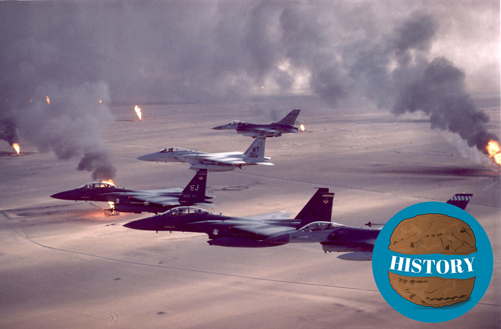 Photo of air campaign during Persian Gulf War